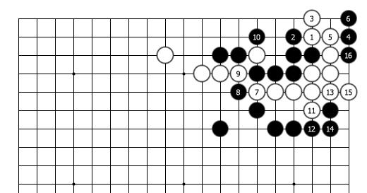 doremifa四个键曲谱-正解图续a:白21,23手筋.